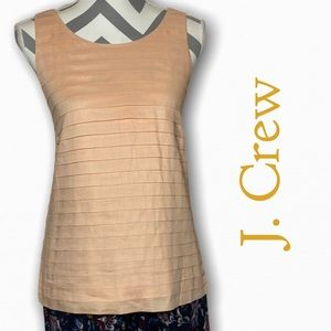 J. Crew tiered cotton shell